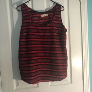 EUC faded glory red and black tank in lg-xlg